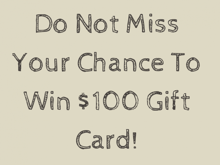 100 gift card giveaway