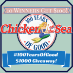 #100YearsOfGood Chicken of the Sea Giveaway Comments