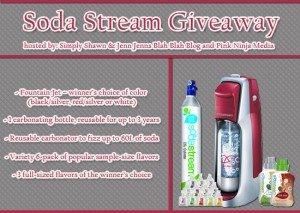 SodaStream Jet Fountain Starter Kit Giveaway