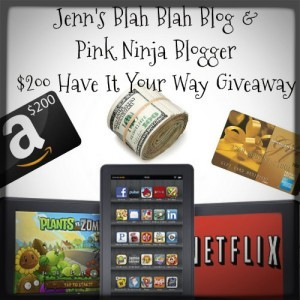 1000 300x300 Have It Your Way Giveaway