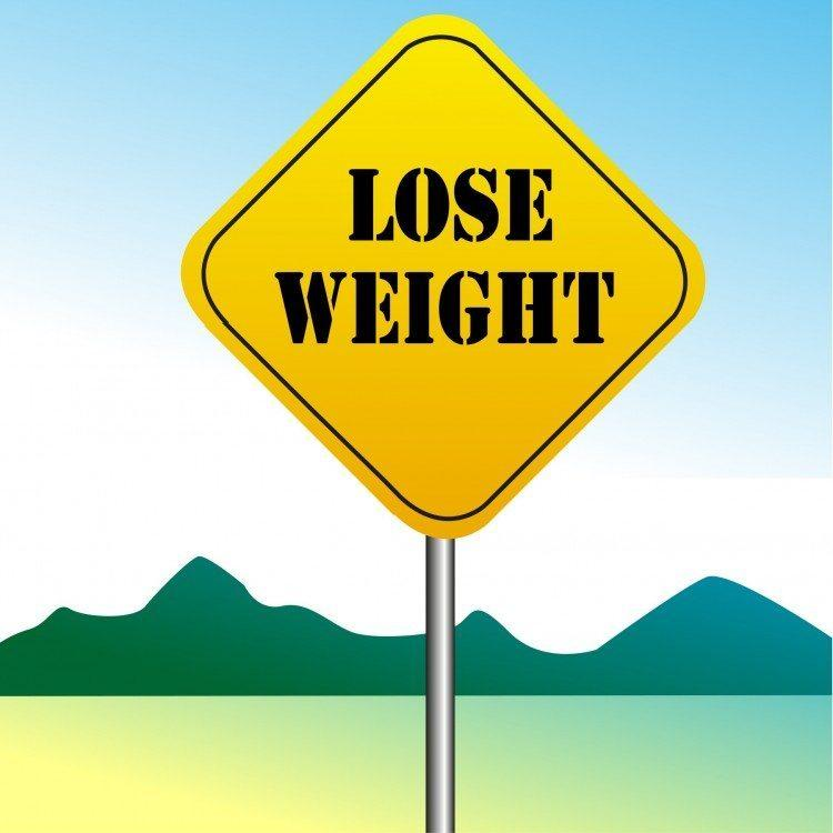 lose weight sign vector