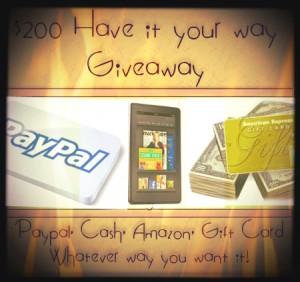 Jenn's Blah Blah Blog's $200 #HaveItYourWay Giveaway
