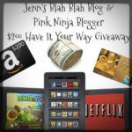 Bloggy $200 Have It Your Way #Giveaway