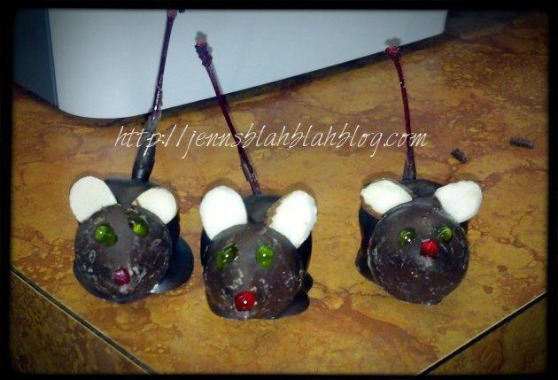 Cute Chocolate Covered Cherry Mice Recipe