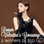Romwe Valentine's Day #Giveaway 2 Winners $50 Gift Card Each!