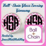 Shop Ball and Chain Monogrammed Glass Earrings Giveaway
