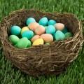 a nest full of easter eggs