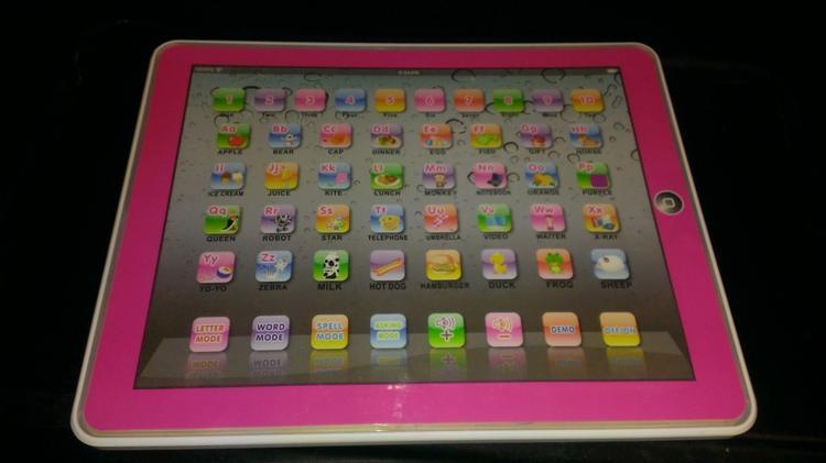 children's pink learning tablet