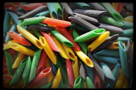 colored noodles picture