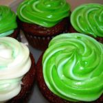 St. Patrick's Day Cream Cheese Filled Chocolate Cupcakes #Recipe