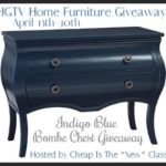 HGTV Home Furniture #Giveaway Enter to #win Ingigo Blue Bombe Chest