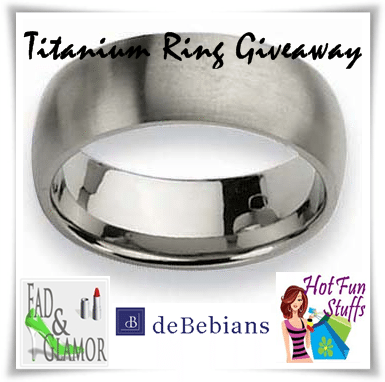 You're Not Going To Miss Titanium Ring #Giveaway Are You?