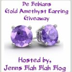 Enter to #Win The Gold Amethyst Earrings #Giveaway