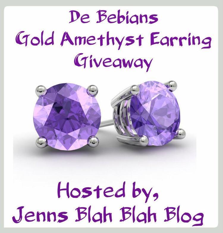 De Bebians Gold Amethyst Earring Giveaway
