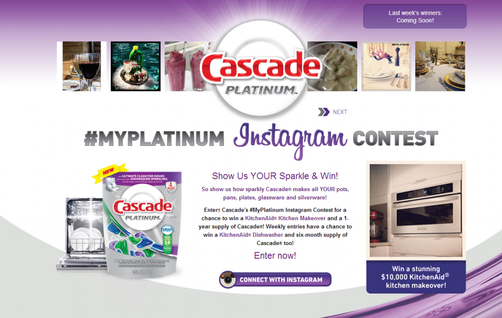 Cascade Contest 1024x649 Clean Dishes: Cascade Platinum Dishwasher Pacs #MyPlatinum Contest