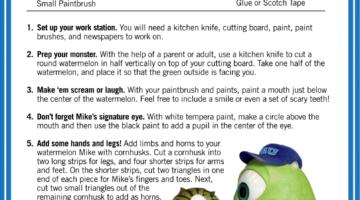Super-Cute Watermelon Craft Idea From #MonstersU