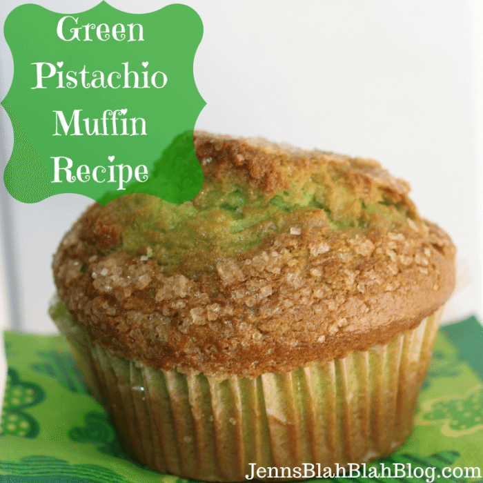 Saint Patrick's Day Recipe: Green Pistachio Muffin Recipe