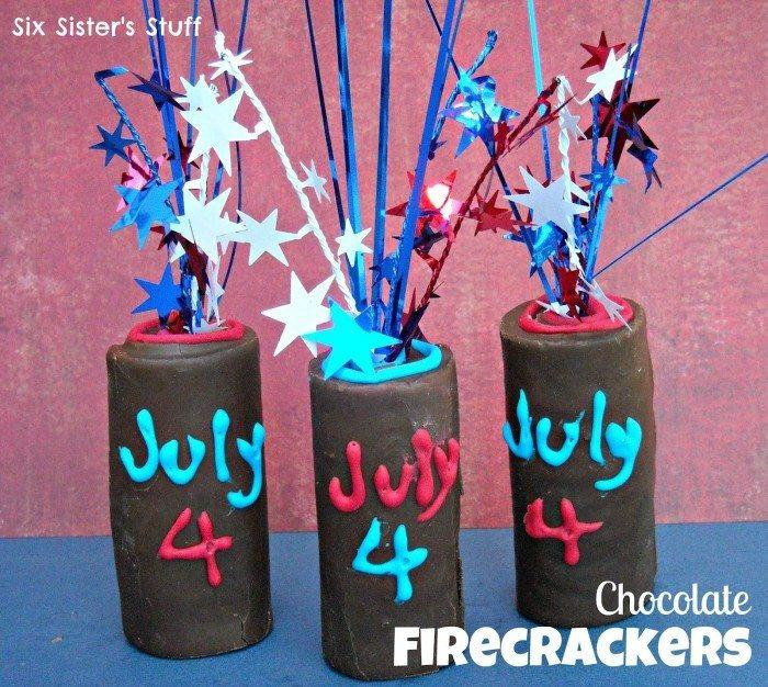 4th of July Chocolate Firecrackers http://jennsblahblahblog.com #jbbb