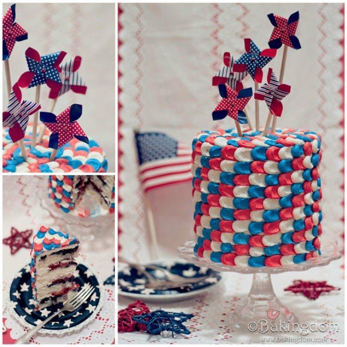 Patriotic-Summer-Berry-Cake http://jennsblahblahblog.com #jbbb