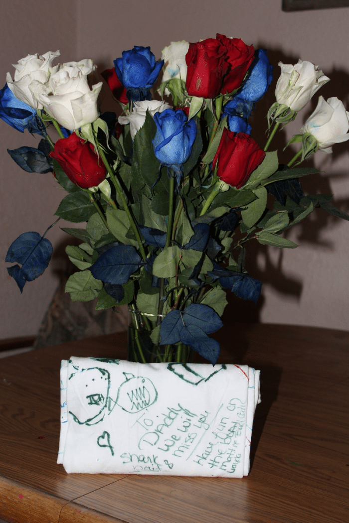 red white and blue flowers for 4th of july