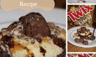 No Bake TWIX Cheesecake Bites with Brownie Crust Recipe