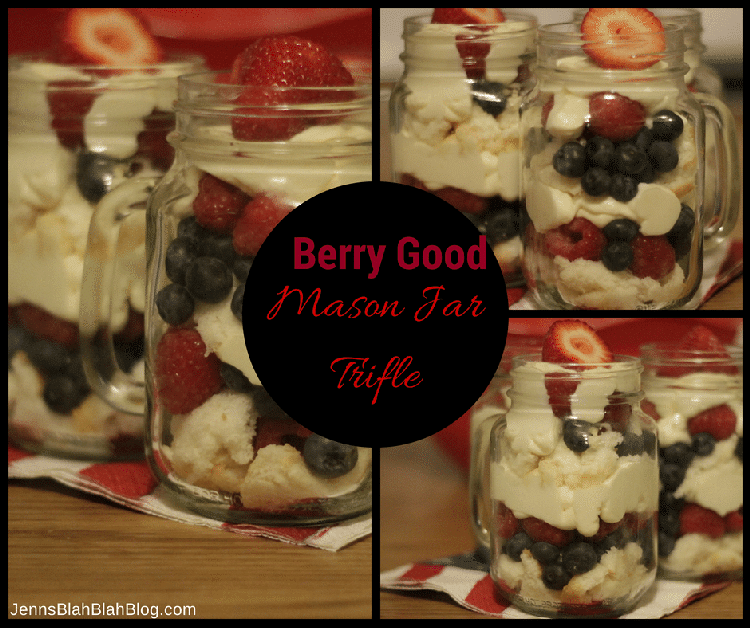 Mason Jar Berry Trifle Recipe Plus 15 Recipe Ideas From Karft #CookingUpGood