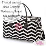 Monogrammed Black Chevron Weekender Travel Bag 150x150 Extreme #Giveaway   Open Worldwide