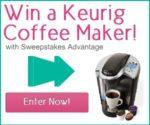 #Sweepstakes: Enter to #win a Keurig Coffee Maker