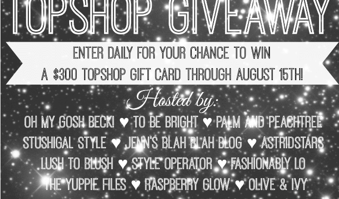 Enter to #win the TopShop #Giveaway