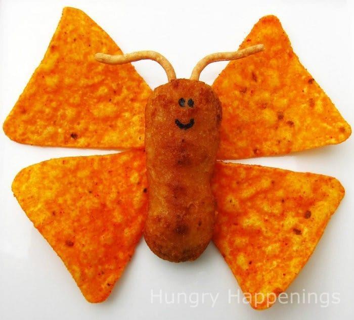 Chicken and Chips Butterfly Snack | #LunchIdeas http://jennsblahblahblog.com #jbbb