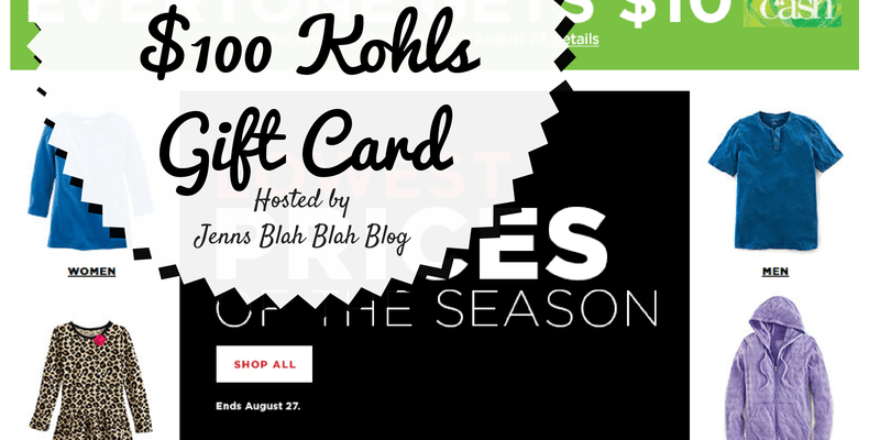 Enter To #Win $100 Kohl's Gift Card #Kohls101