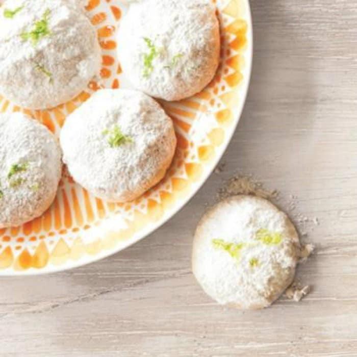 Lemon-Lime Mexican Wedding Cookies - #jbbb http://jennsblahblahblog.com