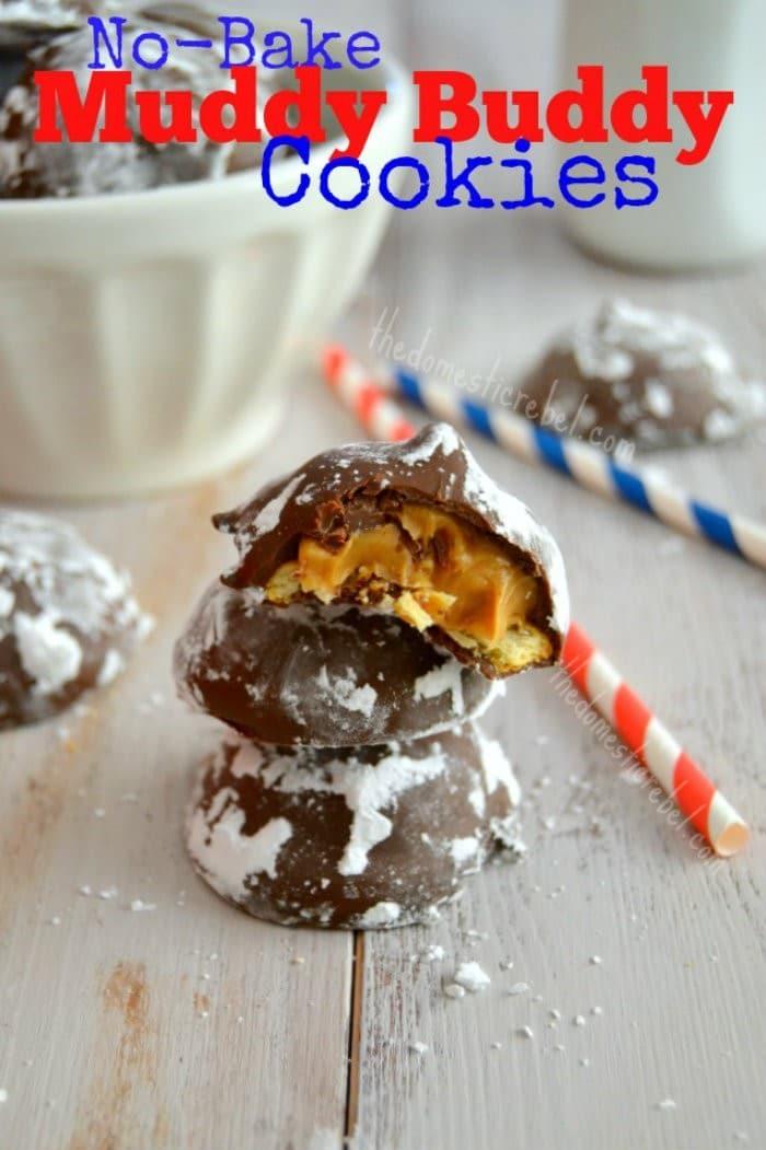 No Bake Muddy Buddy Cookies #jbbb http://jennsblahblahblog.com