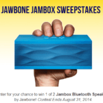 Enter To #Win 1 of 2 Jambox Bluetooth Speakers