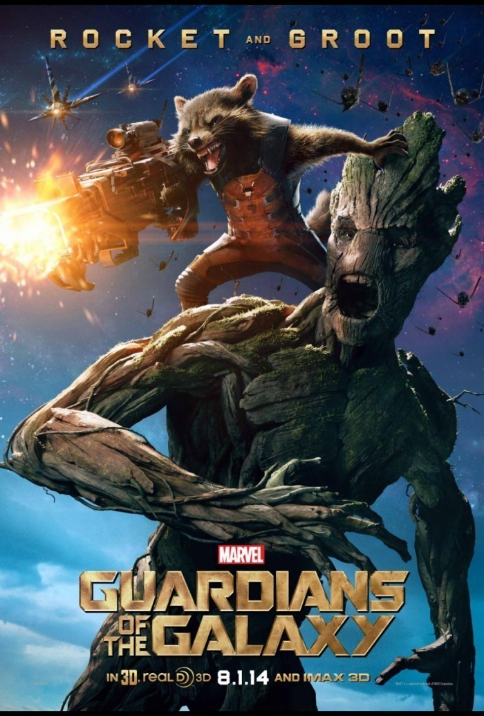 rocket and groot gardian of the galaxy