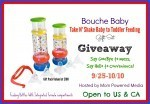 Bouche Baby Take N' Shake Baby to Toddler Feeding #Giveaway
