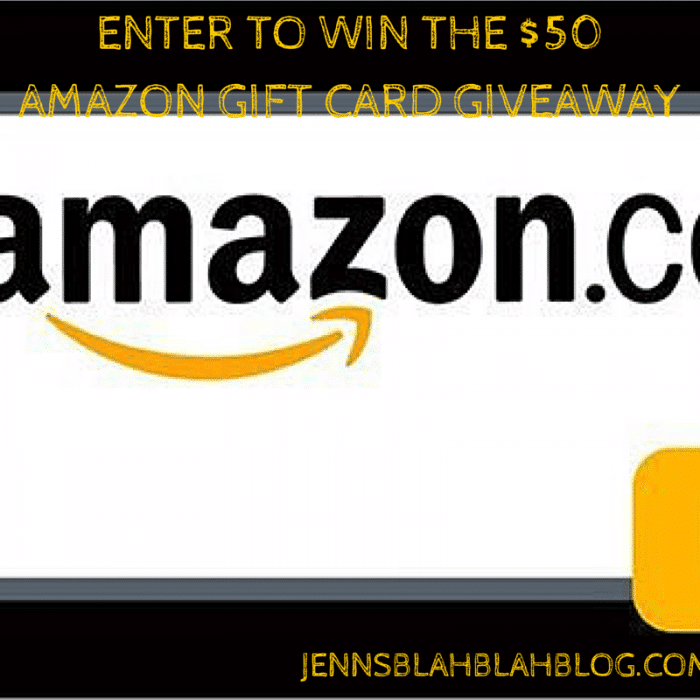 Enter to win the $50 Amazon Gift Card Giveaway