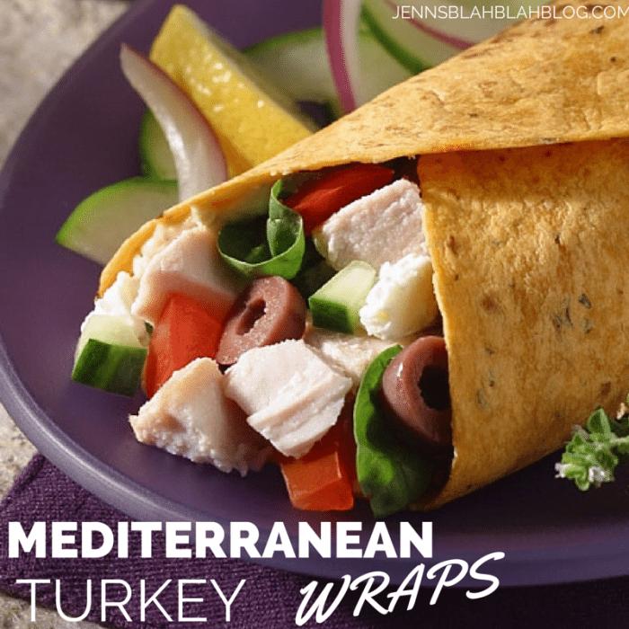 MEDITERRANEAN TURKEY WRAPS