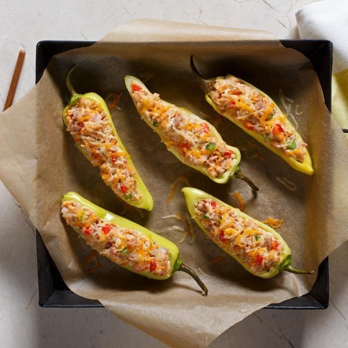 Tuna Stuffed Banana Peppers - Full Frame