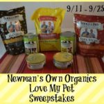 Welcome to the Newman's Own Organics Love My Pet Sweepstakes