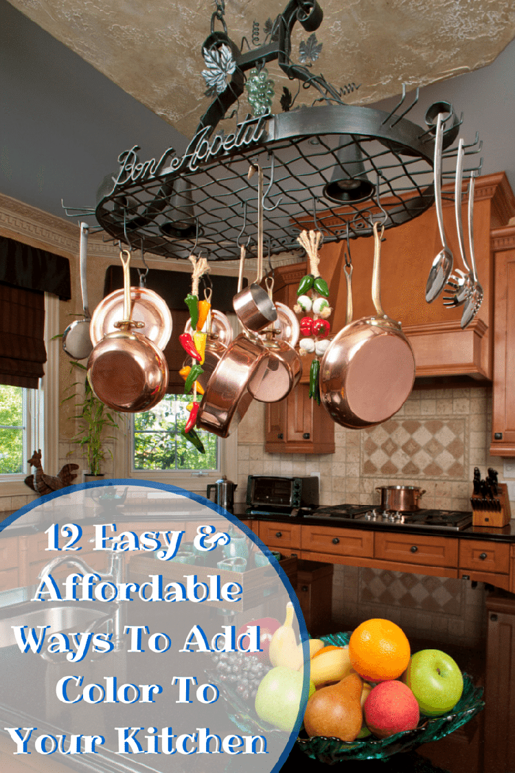 how to add color to your kitchen 12 easy amp affordable ways to add color to a kitchen 9280