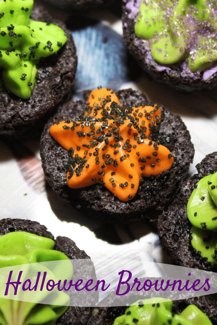Black Halloween Brownies