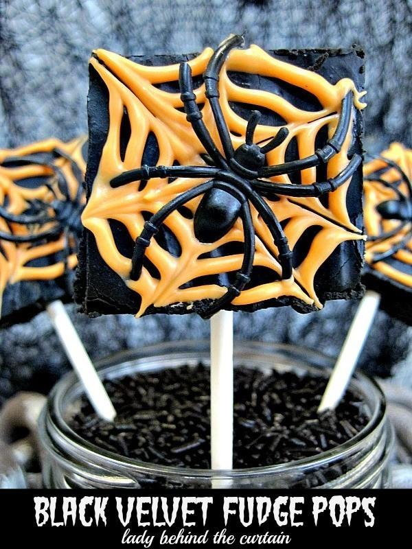 Halloween Black Velvet Fudge Pops