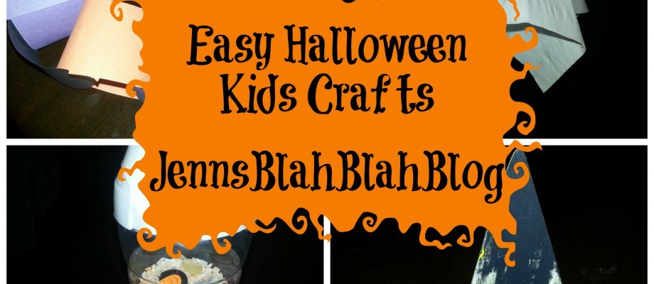 Easy Halloween Kids Crafts