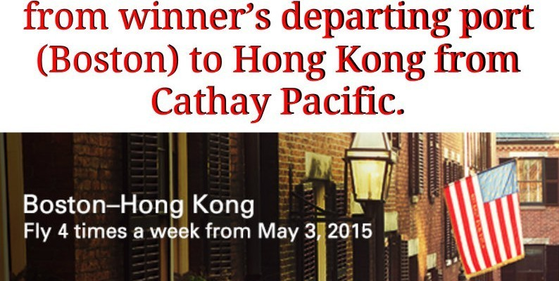 Enter To #Win 2 Round Trip Tickets To Hong Kong