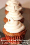 homemade carrotcake cupcakes cream cheese frosting