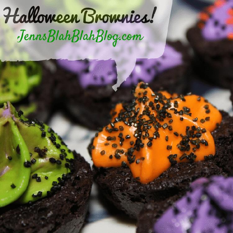 Halloween Brownies Recipe & Halloween Vanilla Frosting