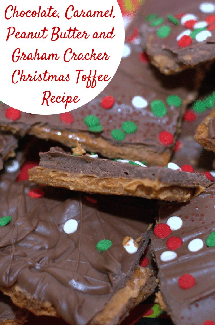 Chocolate, Caramel, Peanut Butter and Graham Cracker Christmas Toffee Recipe