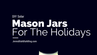 DIY Solar Mason Jar Light Decoration
