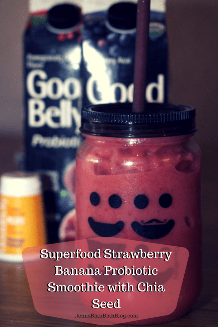 Strawberry Banana Probiotic Superfood Smoothie Recipe